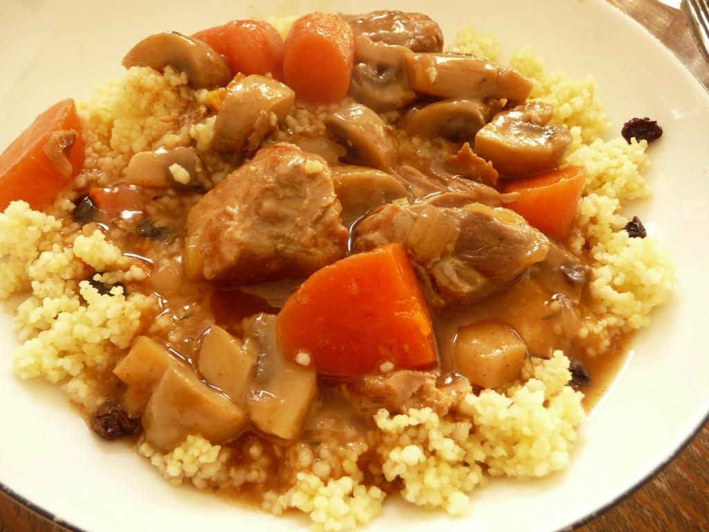 Couscous met gestoofd rundvlees voor avondeten