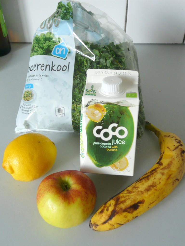 De ingrediënten voor smoothie 2