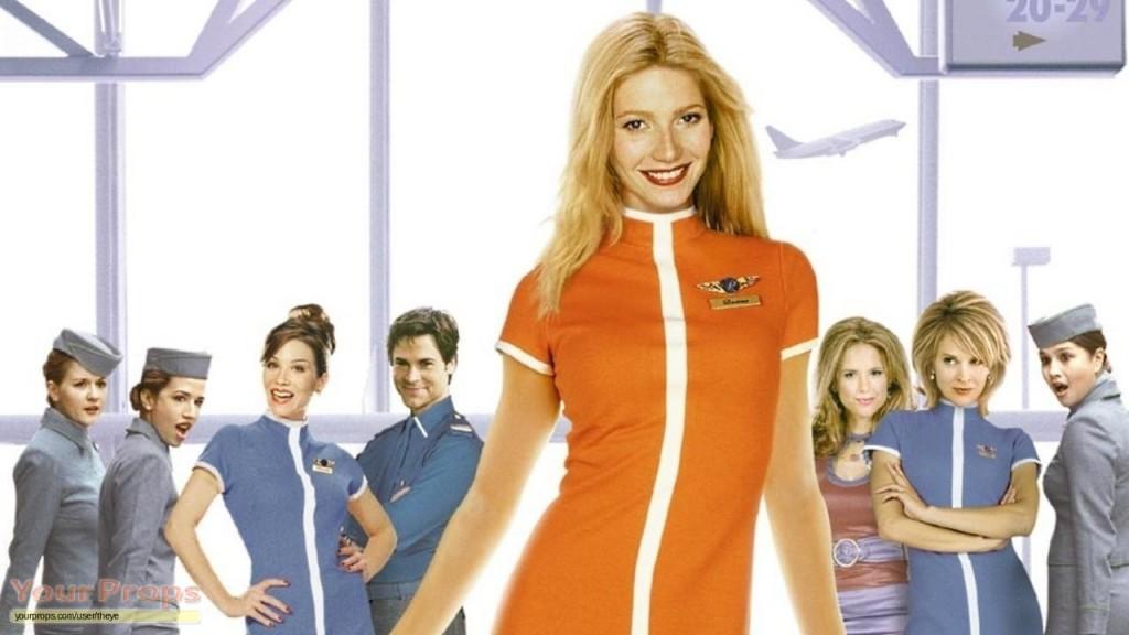 Gwenyth in haar stewardessen pakje