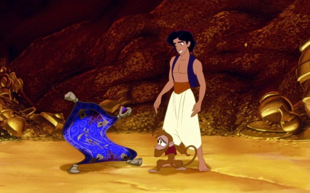 De avontuurlijke Aladdin die al het goud in de wereld laat liggen voor zijn grote liefde