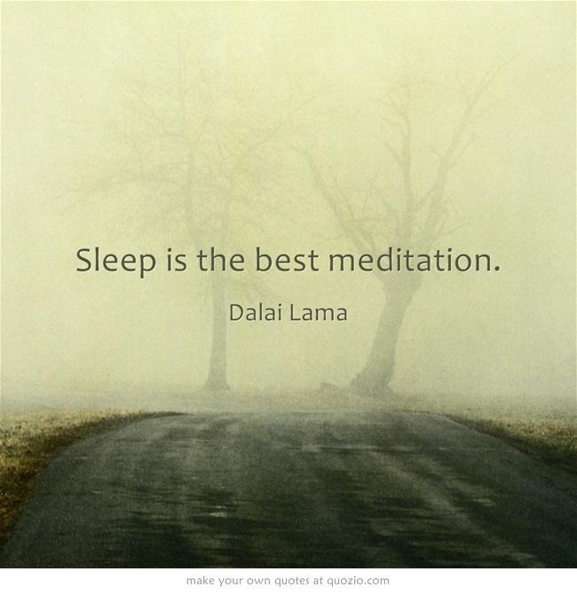 Ik hou van mediteren ;)