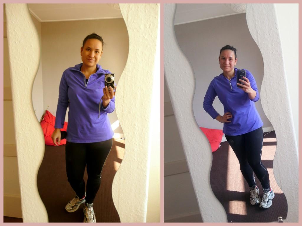 Voor en na het hardlopen