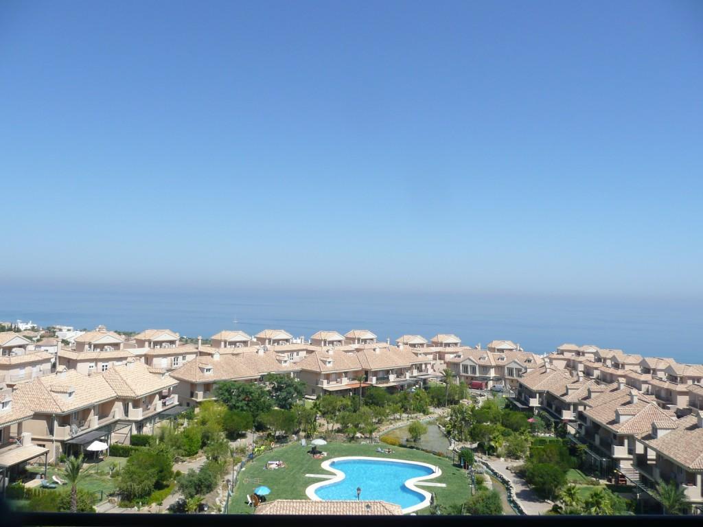 Uitzicht op de Middenlandse Zee vanuit ons apartement