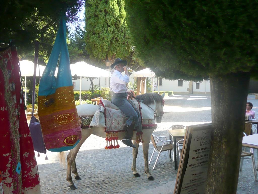Man in traditionele kledij te paard in Ronda