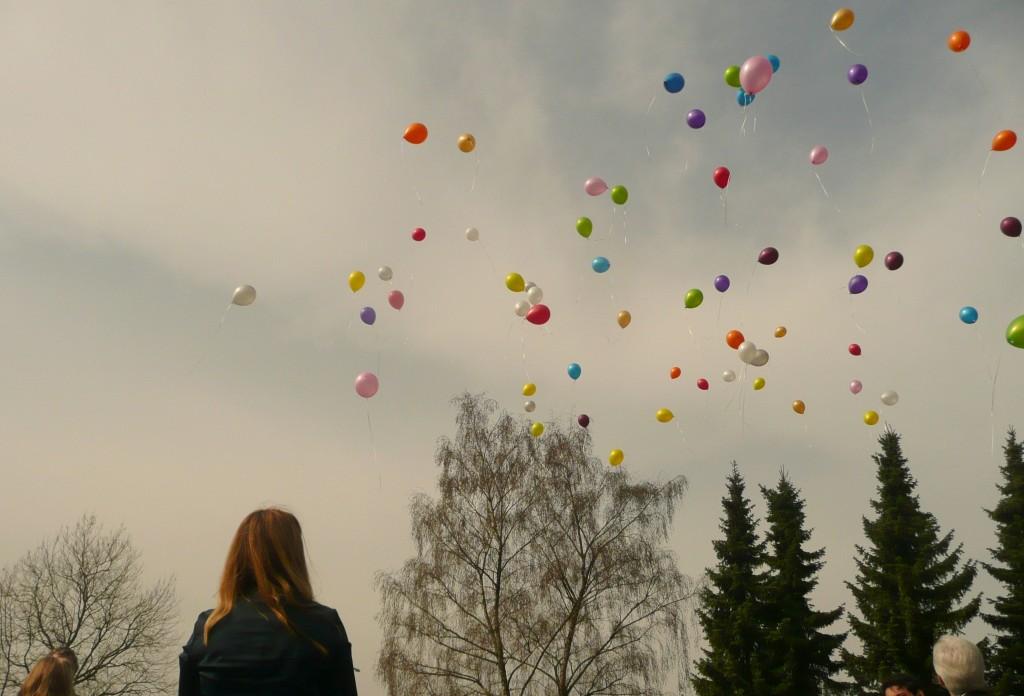We lieten ballonnen op voor Dani