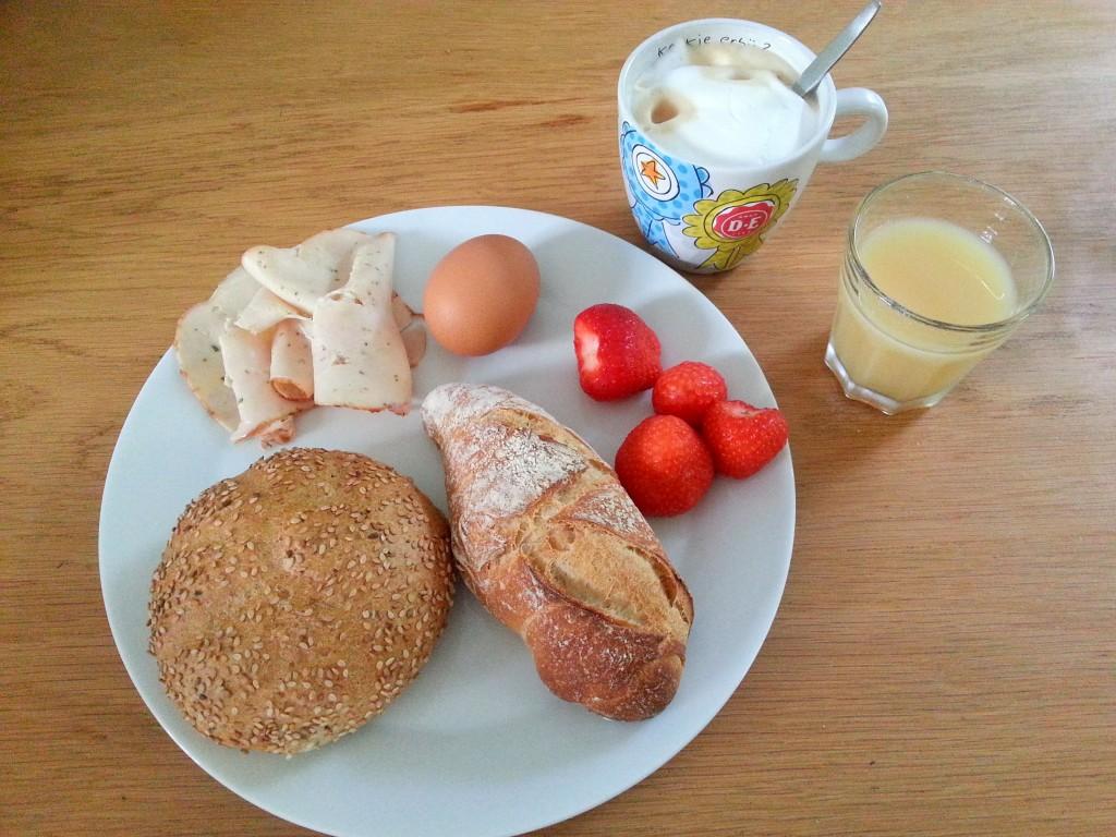 Ontbijt, Aardbeien, koffie, Diary