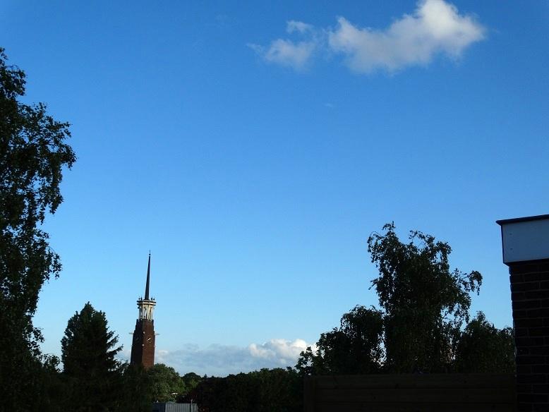 Joehoe, blauwe lucht