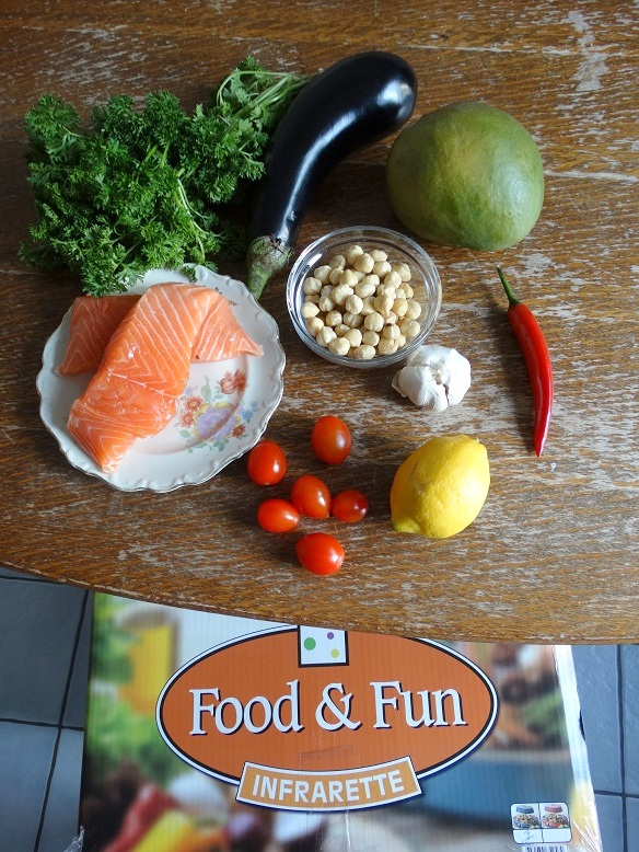 Ingredienten zalm met mangosalsa Recept