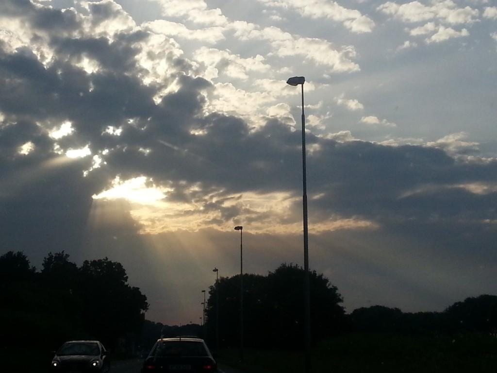 Super mooi lichtval onderweg naar huis