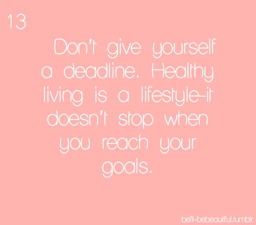 Healthy living fitspiration
