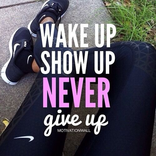 fitspiration never give up