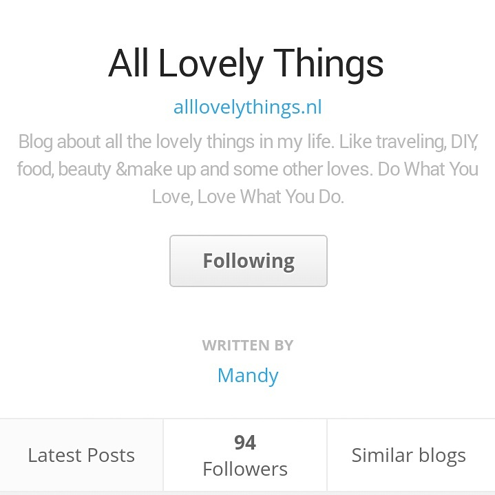 Diary Bloglovin volger follow Blog