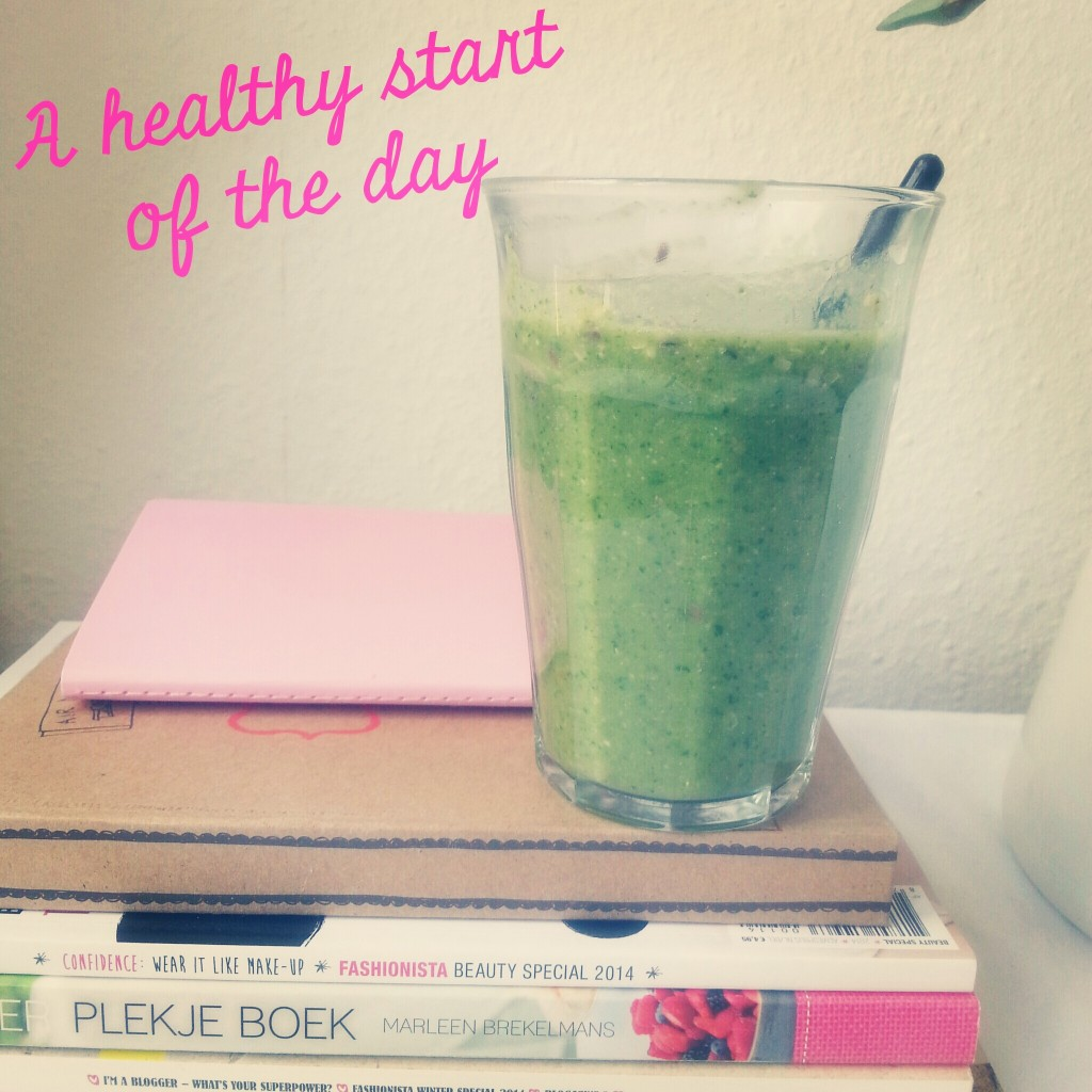 Diary healthy food, spinach, shake