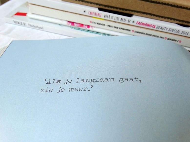 Inspirational quote Bijzonder Plekje Boek Marleen Brekelmans review leef geniet