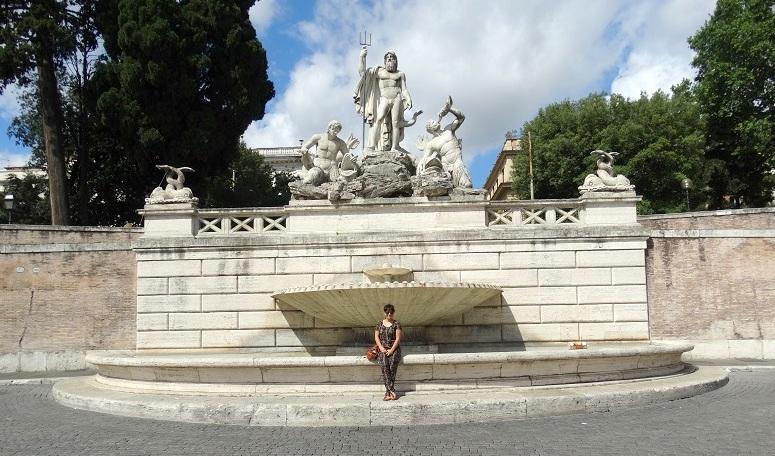 Rome stedentrip reis tips Piazza del Popolo Fontanta Del Tritone