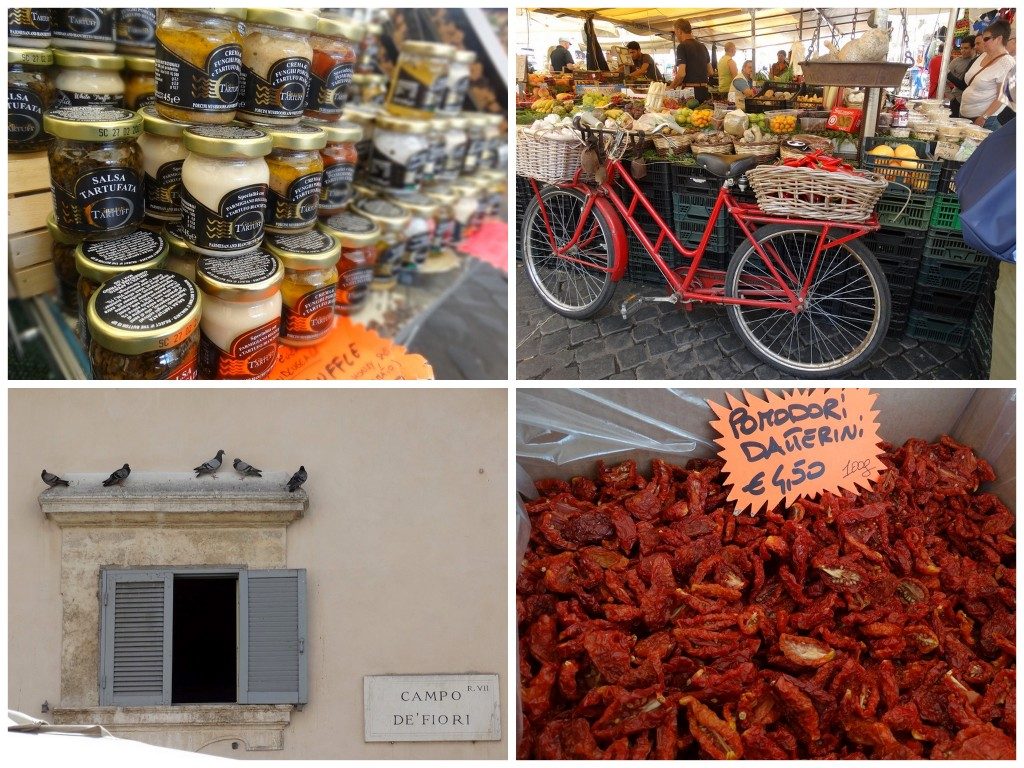 Rome tips Campo de' Fiori markt stedentrip travel plog