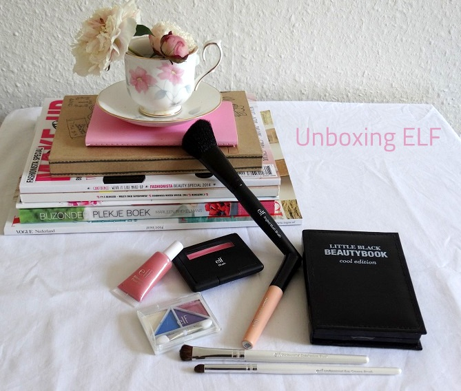 Unboxing ELF pakket make up beauty blush oogschaduw kwasten primer