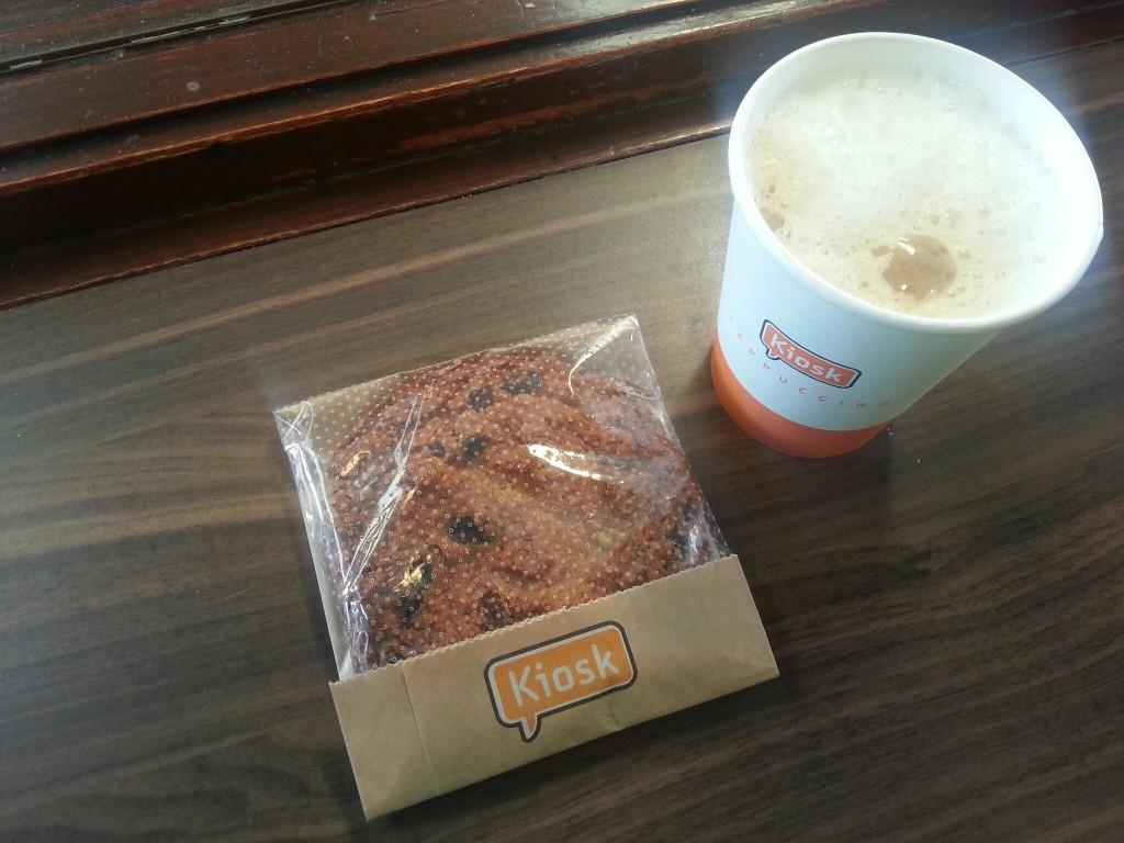 Kiosk-havermout-koek-cappuccino