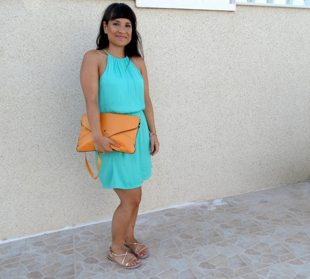 OOTD-Emerald green-palm-trees