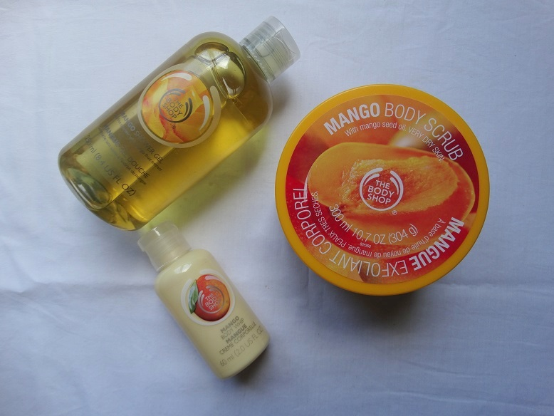 The- Body-Shop- Mango- scrub- gel- bodywhip- review