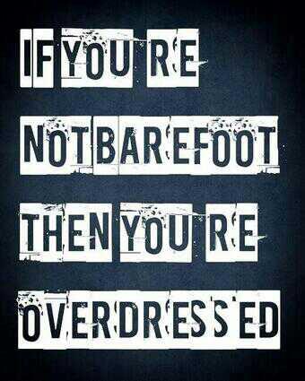 bare foot- vakantie- quote