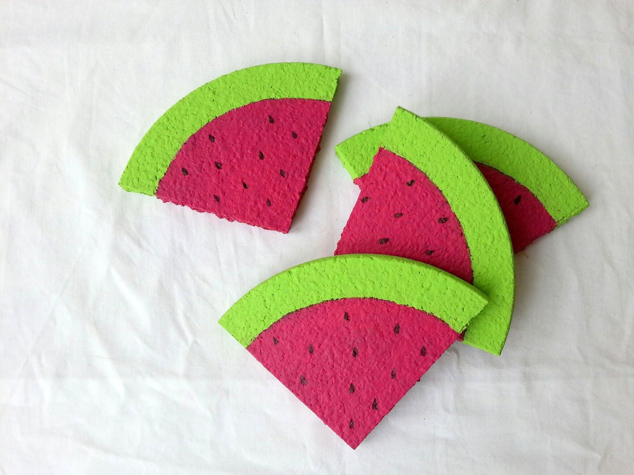 Verrassend ♥ DIY vrolijke watermeloenonderzetters - All Lovely Things QP-09