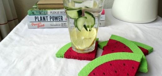 DIY-watermeloen- Onderzetter-resultaat
