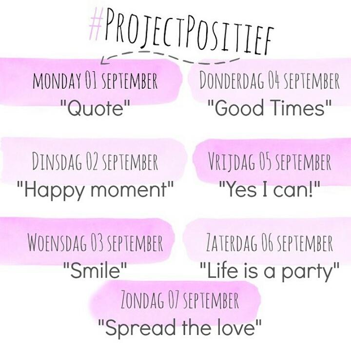 Project Positief Instagram Challange