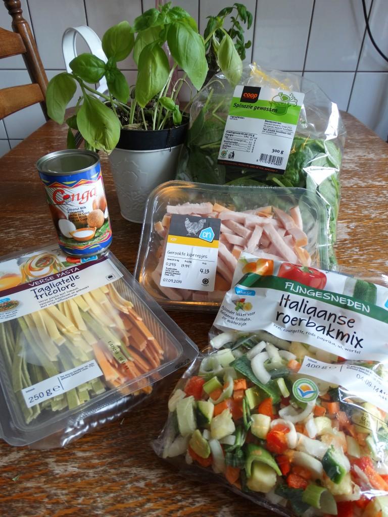 Recept-pasta-kokosmelk-gerookte-kip