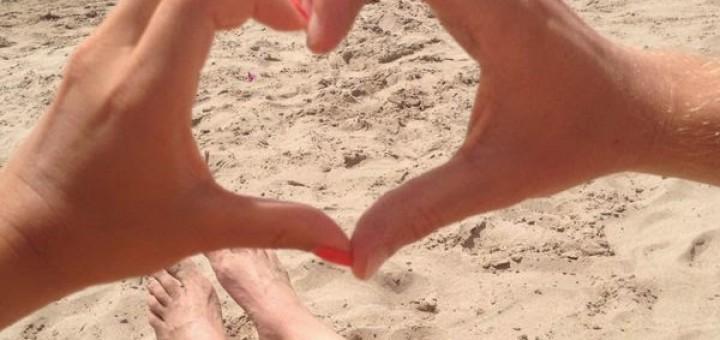 Strand-liefde-Spanje