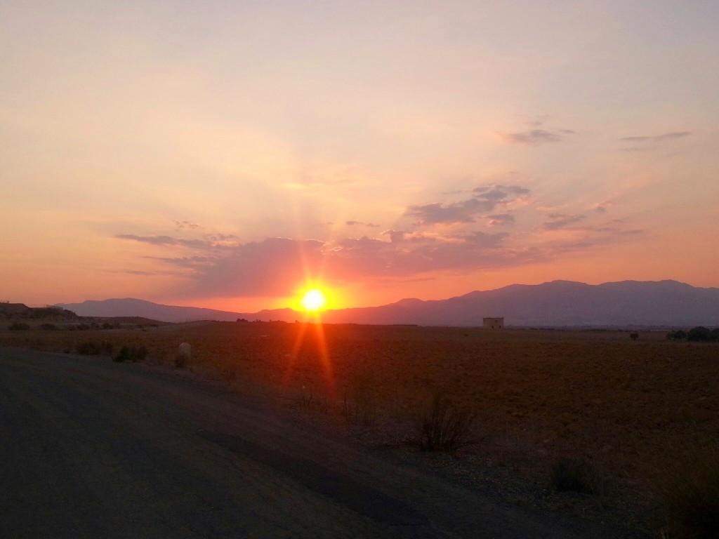 Zonsondergang-Spanje-plog