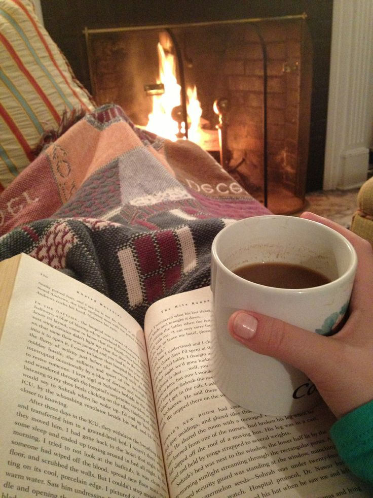 tea,blanket, book