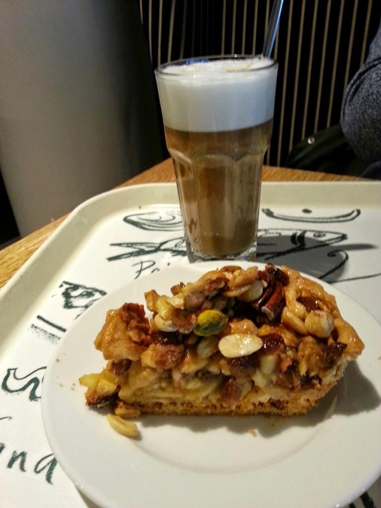 appeltaart koffie V&D Nijmegen