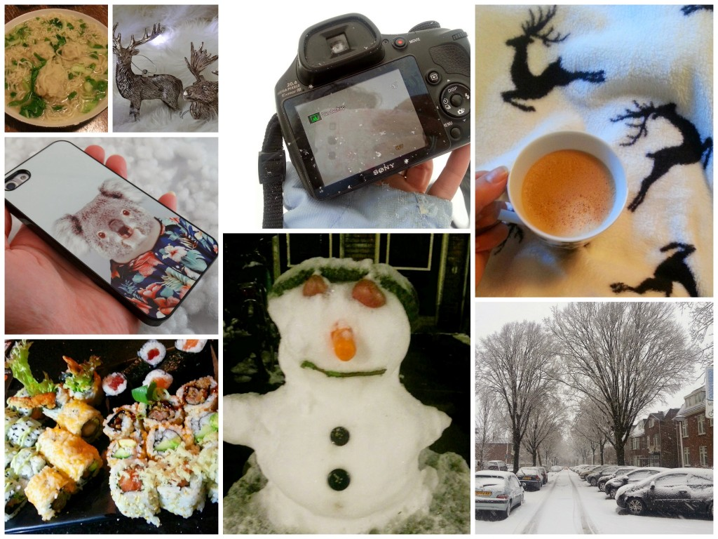 diaryblog kerst sneeuw sushi