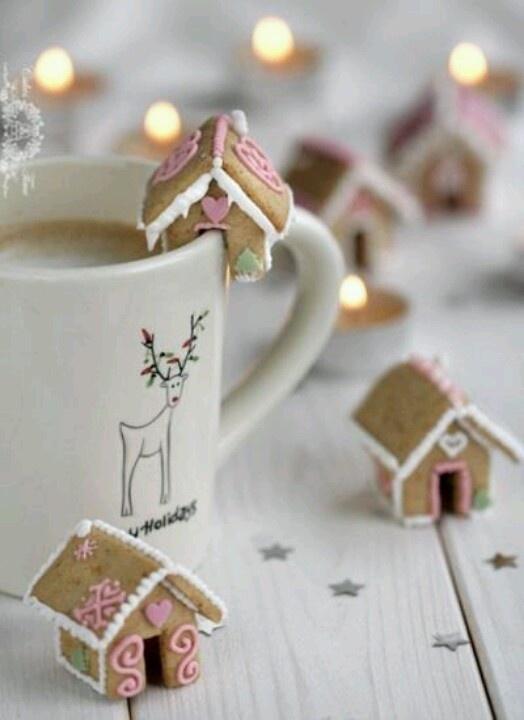 kerst beker huisjes