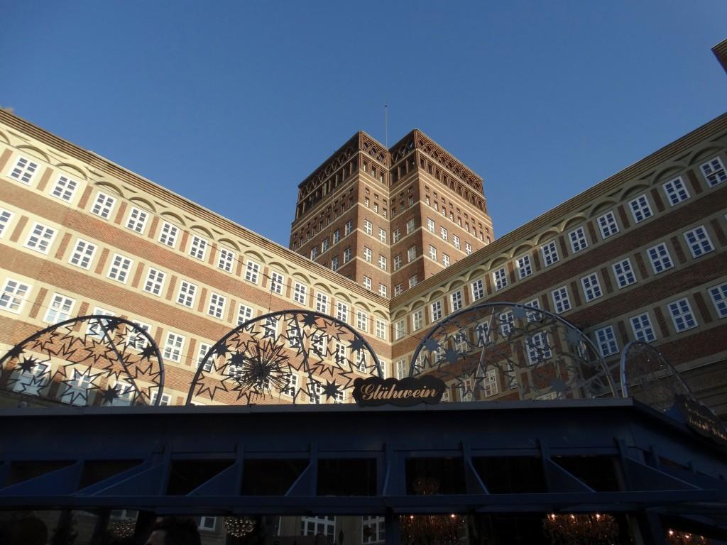 kerstmarkt dusseldorf gebouwen