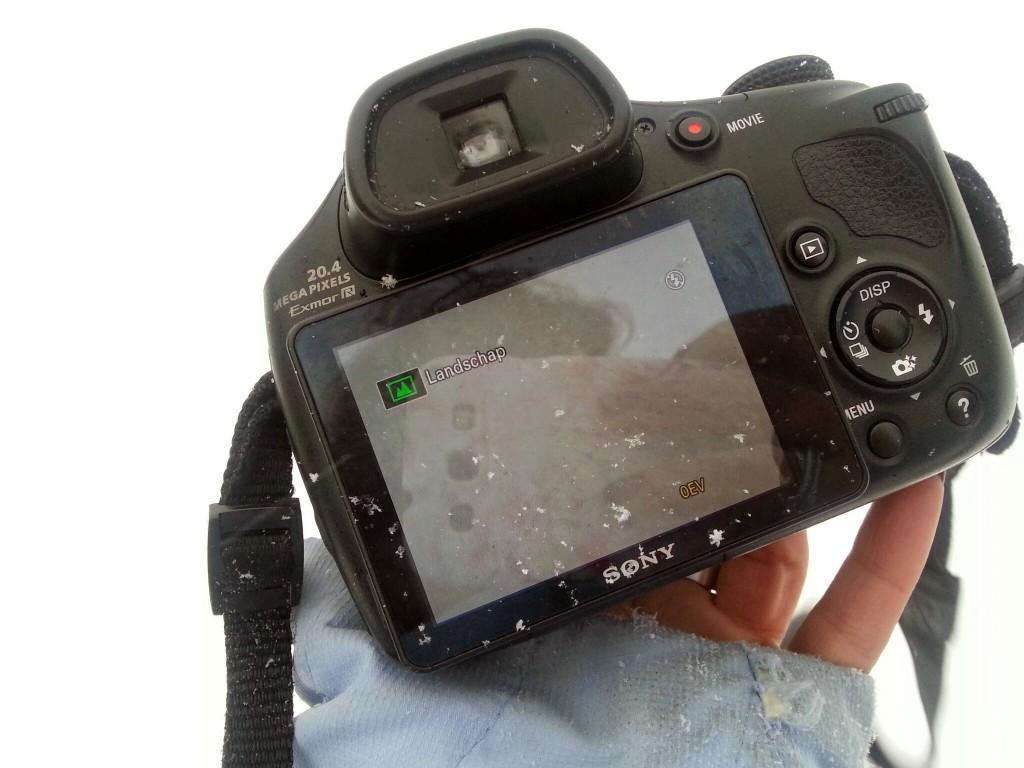 sony camera sneeuw wit