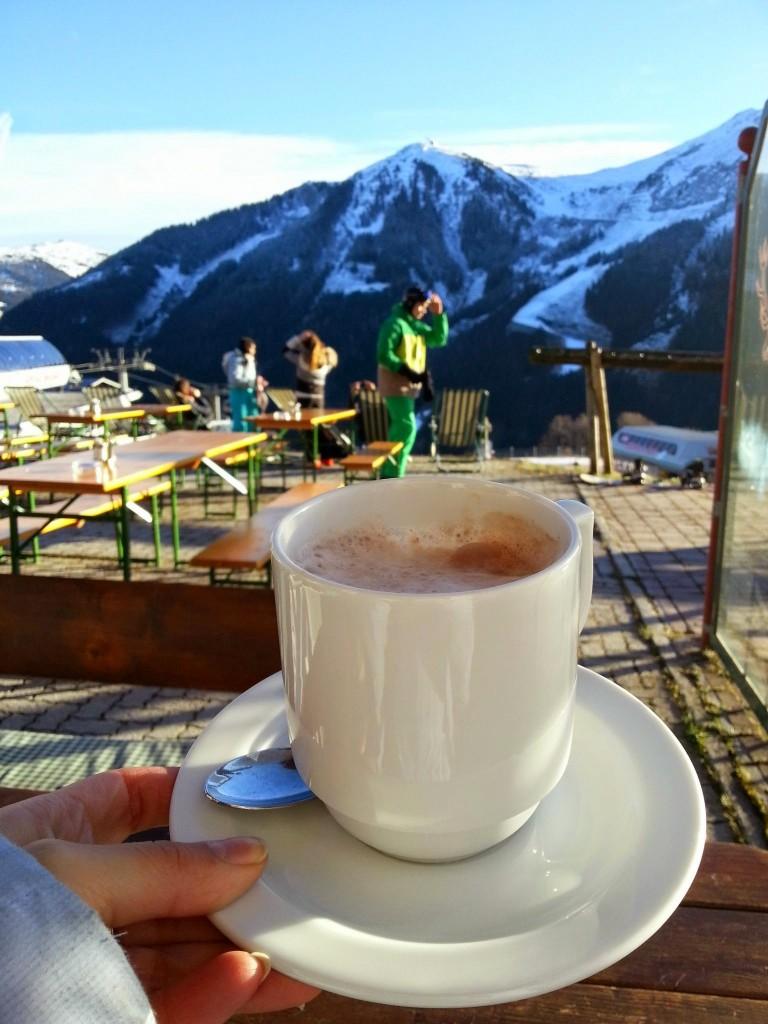 Warme chocolademelk Saalbach Hinterglemm