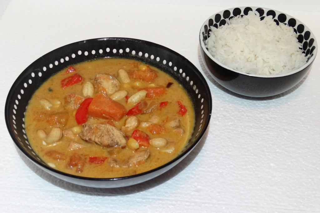 thaise groene curry met pompoen en kipfilet