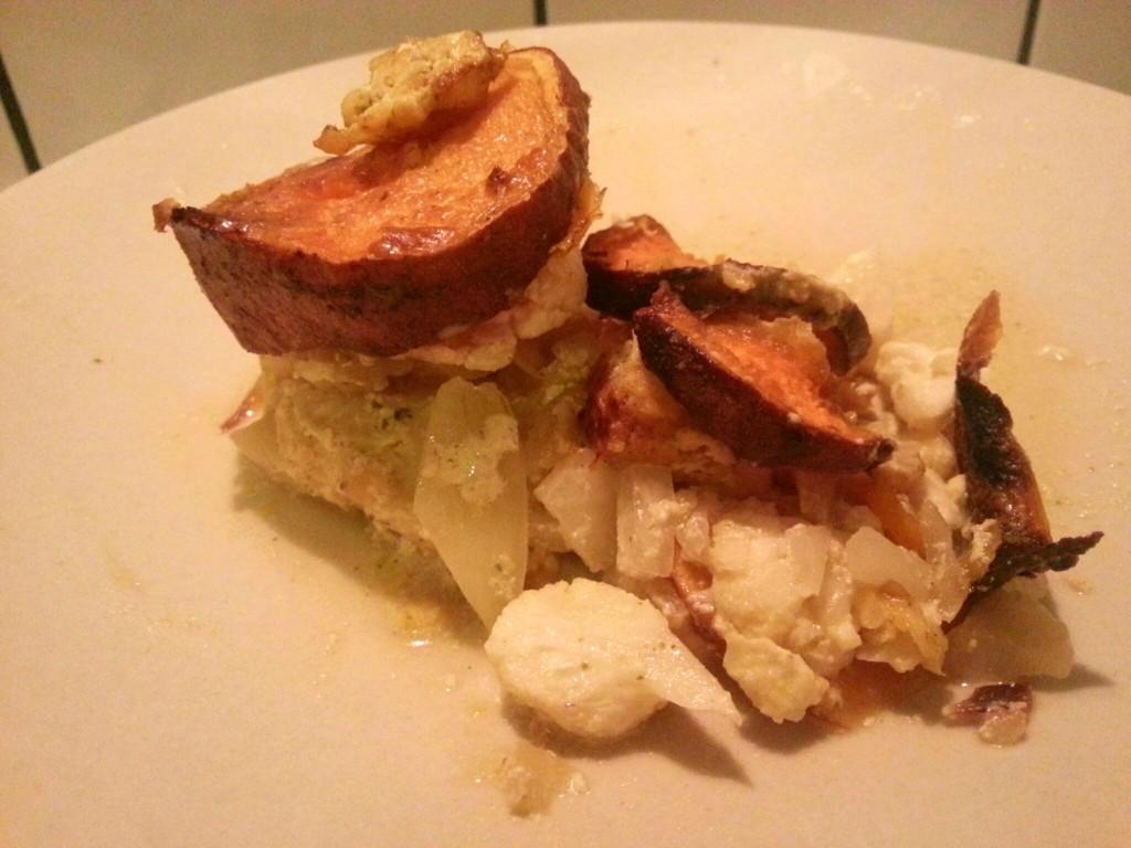 Ovenschotel rens kroes zoete aardappel