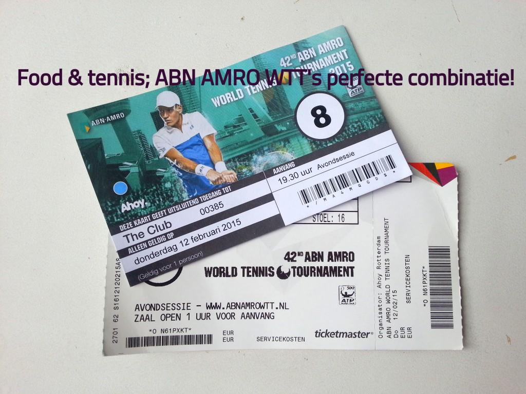 Food & tennis; ABN AMRO WTT's perfecte combinatie