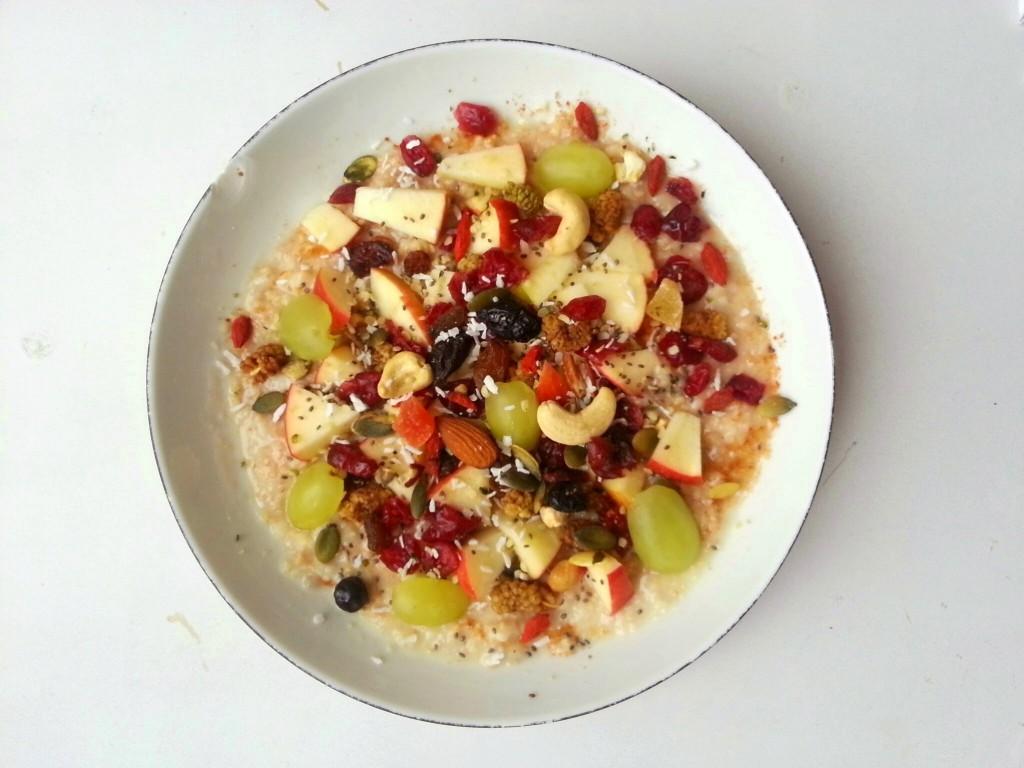 havermout amandelmelk fruit superfood