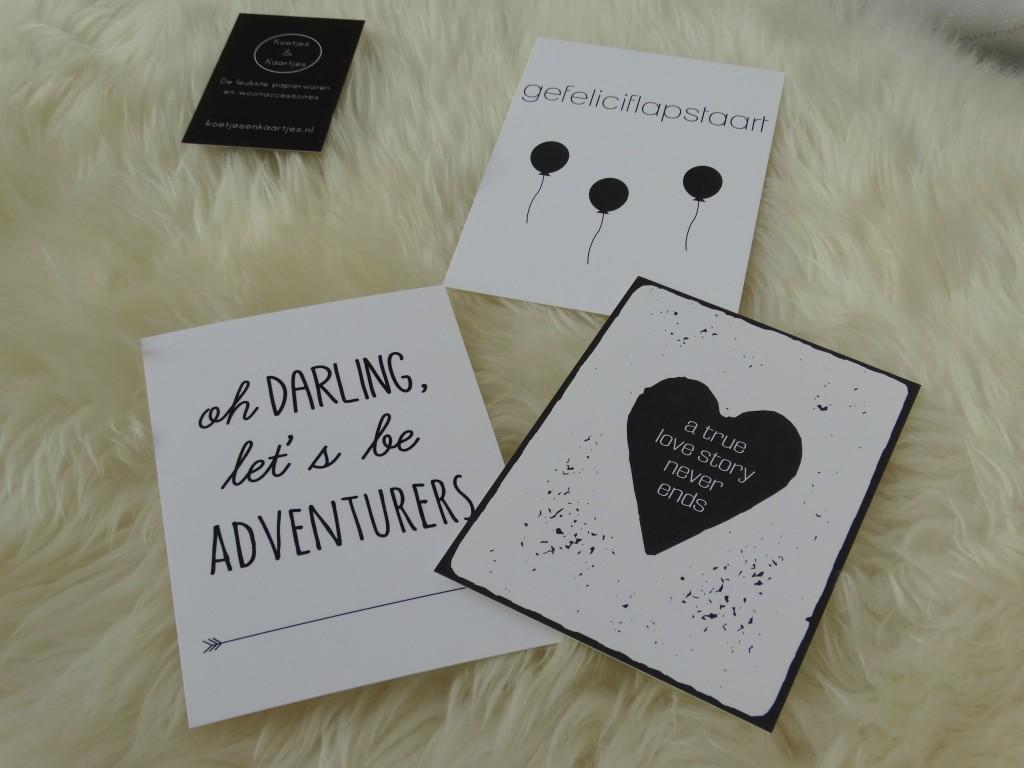 kaarten tekst zwart wit koetjes en kaartjes