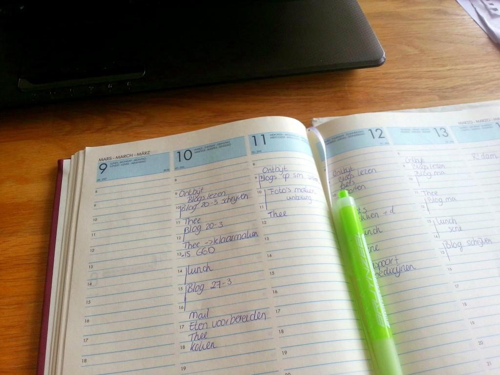 Plannen van de week