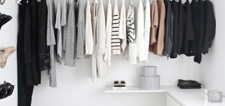 kledingkamer inspiratie wit minimalistisch