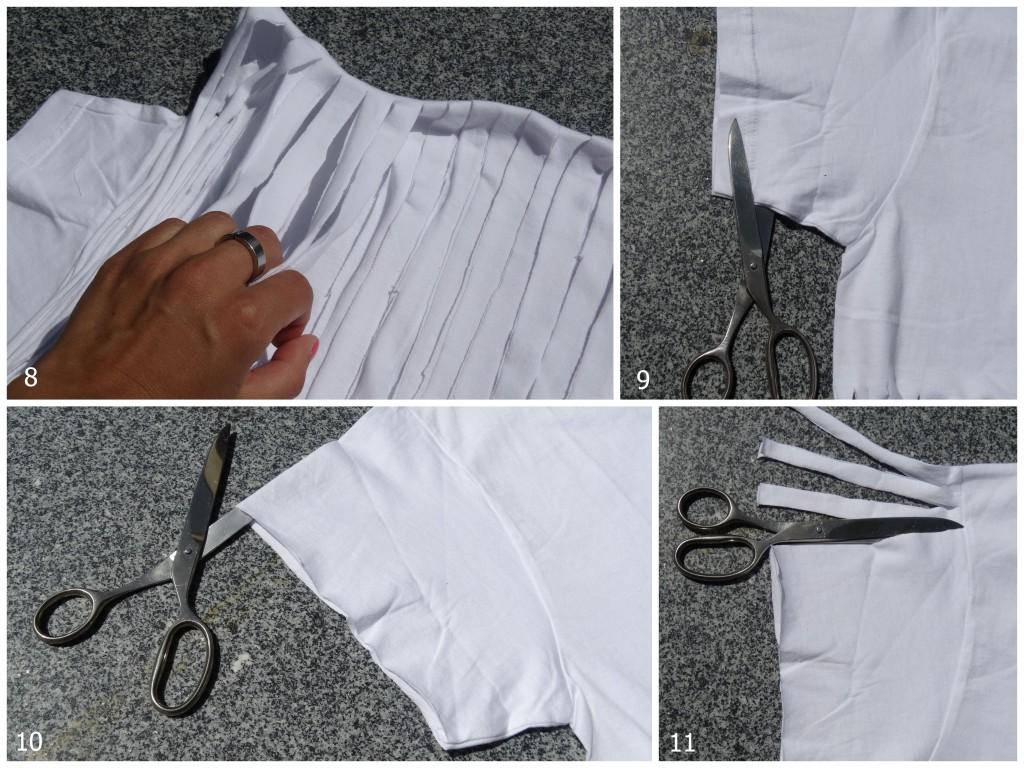 DIY fringe shirt sting festival outfit