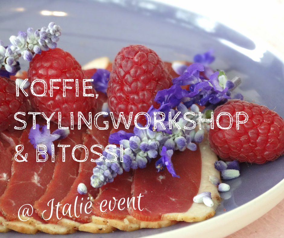 Koffie, stylingworkshop & bitossi