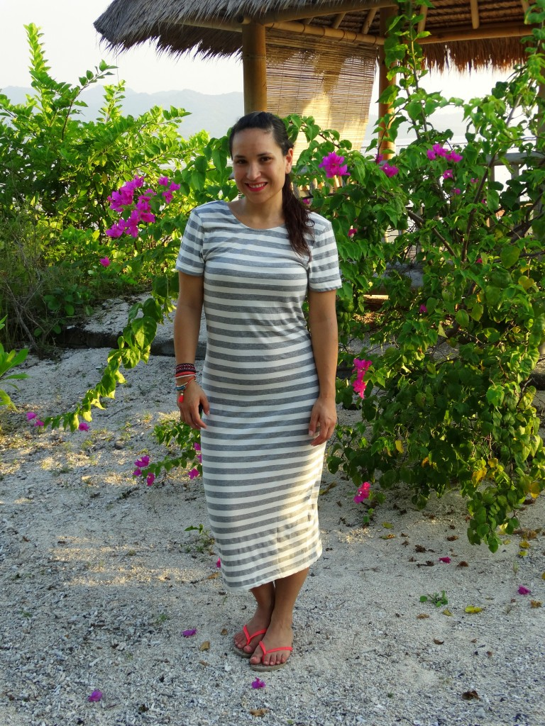 OOTD strepen jurk only gili air