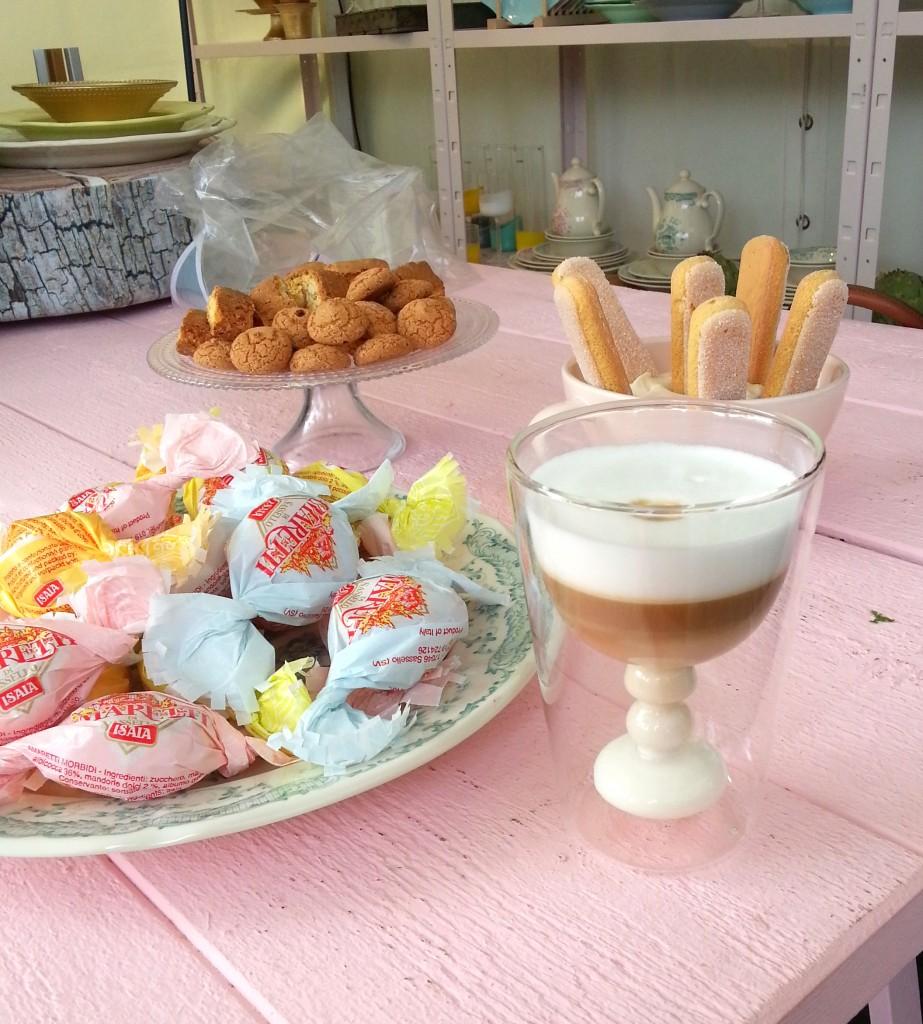 bitossi glazen cappuccino servies