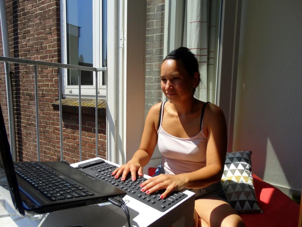 bloggen in de zon